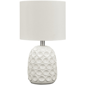 MOORBANK WHITE CERAMIC TABLE LAMP