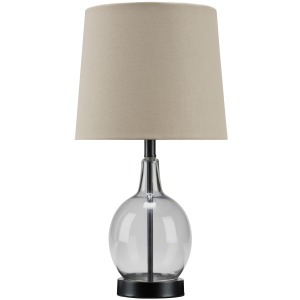 ARLOMORE GRAY GLASS TABLE LAMP