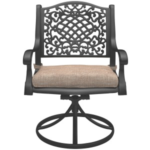 Rose View Swivel Chair with Cushion (Set of 2)
