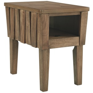 Rowenbeck Chairside End Table with USB Ports & Outlets