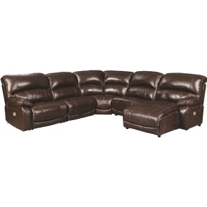 Hallstrung 5-Piece Reclining Sectional with Chaise and Power
