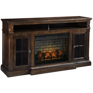 """Roddinton 74"""" TV Stand with Electric Fireplace"""
