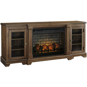 """Flynnter 75"""" TV Stand with Electric Fireplace"""