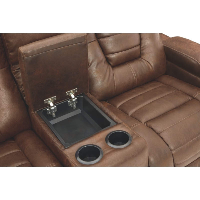 Owner's Box Power Reclining Loveseat with Console