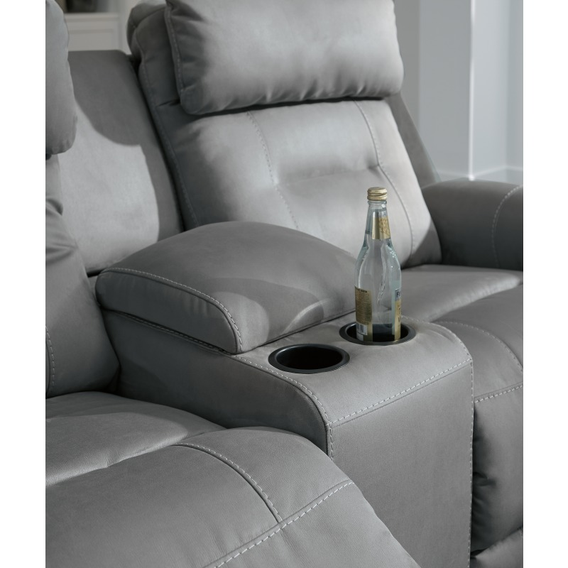Fantastic Trampton Power Reclining Loveseat With Console By Signature Gamerscity Chair Design For Home Gamerscityorg