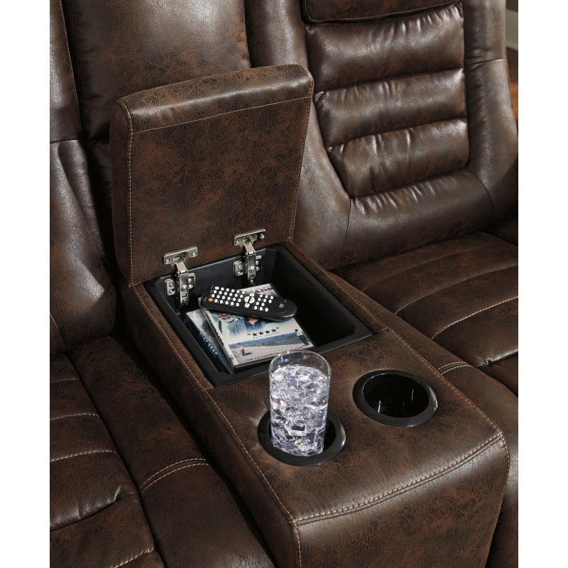 Pleasant Game Zone Power Reclining Loveseat With Console Bralicious Painted Fabric Chair Ideas Braliciousco