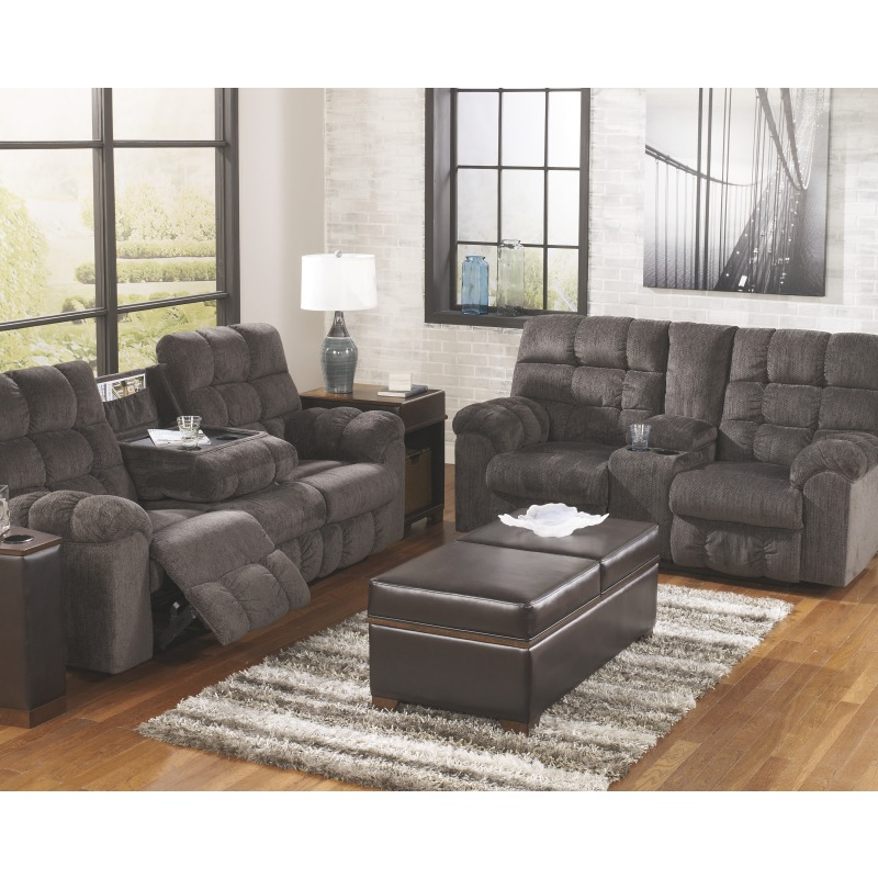 Acieona Reclining Sofa With Drop Down Table By Signature
