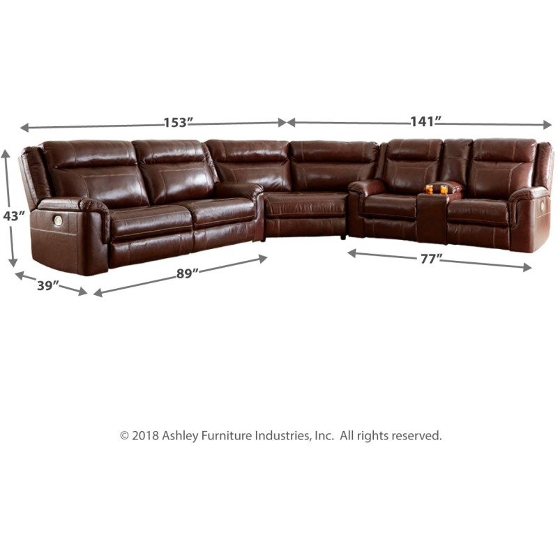 Swell Wyline 3 Piece Reclining Sectional With Power By Signature Pdpeps Interior Chair Design Pdpepsorg
