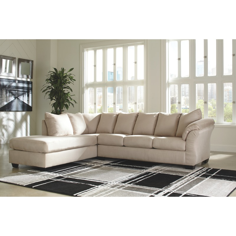 Sensational Darcy 2 Piece Sectional With Chaise And Sleeper By Signature Gmtry Best Dining Table And Chair Ideas Images Gmtryco