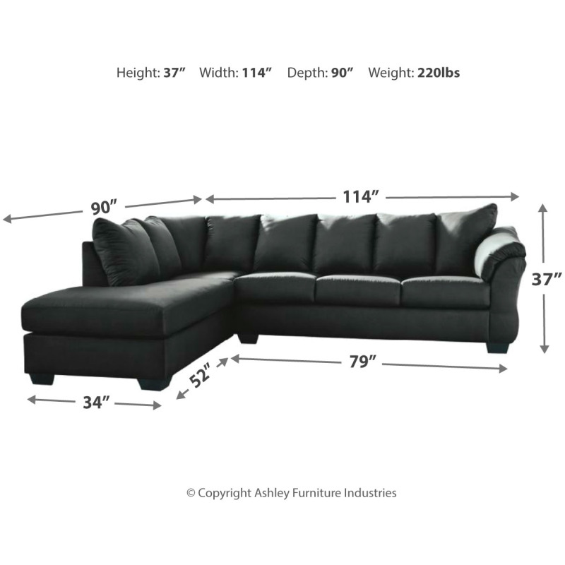 Stupendous Darcy 2 Piece Sectional With Chaise By Signature Design By Inzonedesignstudio Interior Chair Design Inzonedesignstudiocom