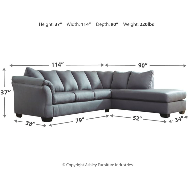 Magnificent Darcy 2 Piece Sectional With Chaise Cjindustries Chair Design For Home Cjindustriesco