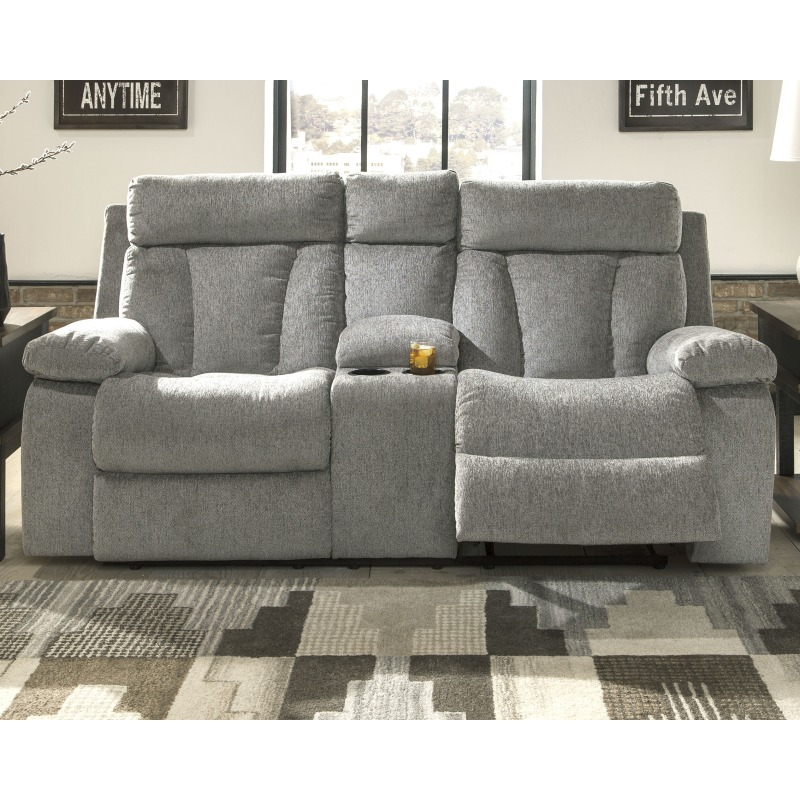 Enjoyable Mitchiner Reclining Loveseat With Console 7620494 Ibusinesslaw Wood Chair Design Ideas Ibusinesslaworg