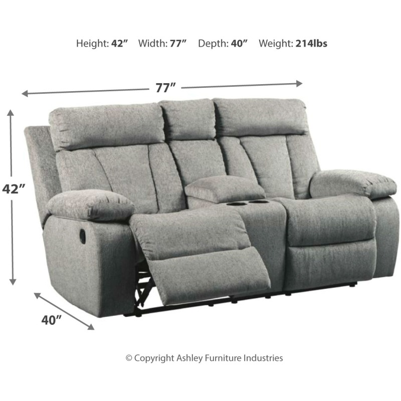 Fabulous Mitchiner Reclining Loveseat With Console 7620494 Bralicious Painted Fabric Chair Ideas Braliciousco