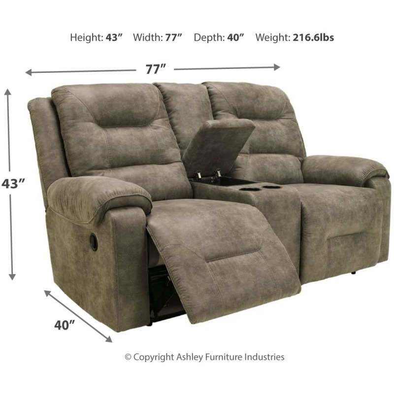 Fantastic Rotation Reclining Loveseat With Console Onthecornerstone Fun Painted Chair Ideas Images Onthecornerstoneorg