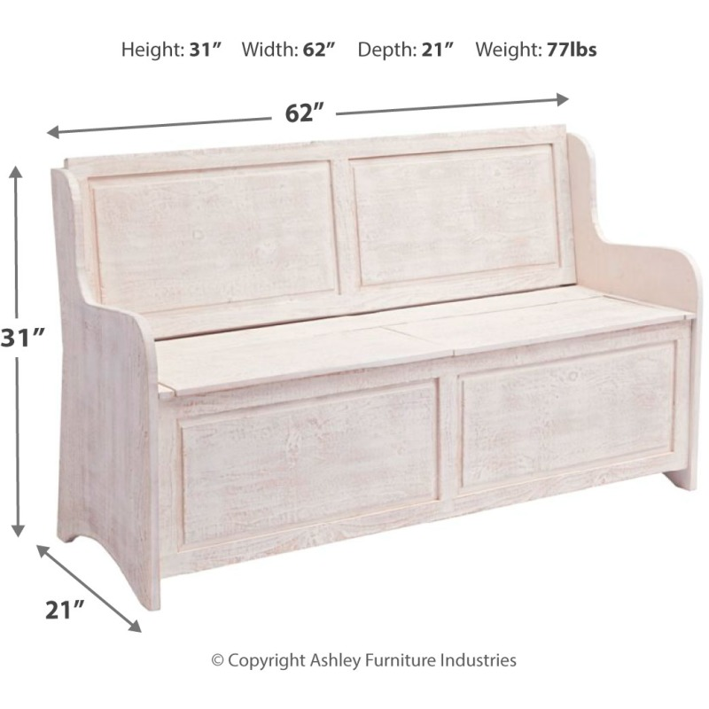Dannerville Storage Bench