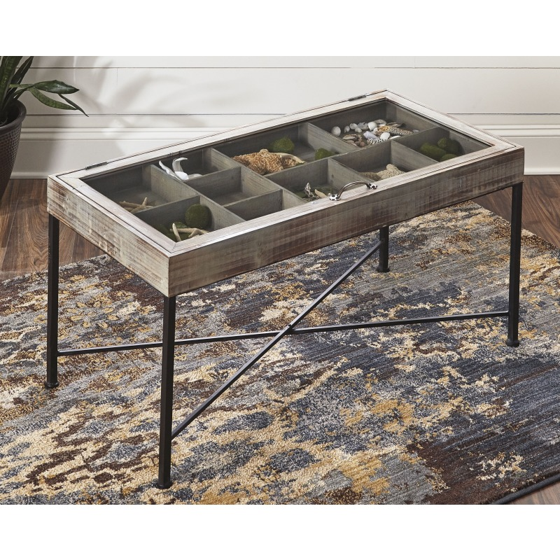 Shellmond Coffee Table with Display Case