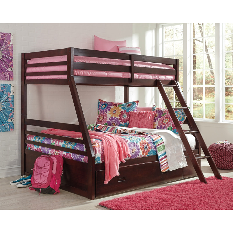 Halanton Twin over Full Bunk Bed with Storage