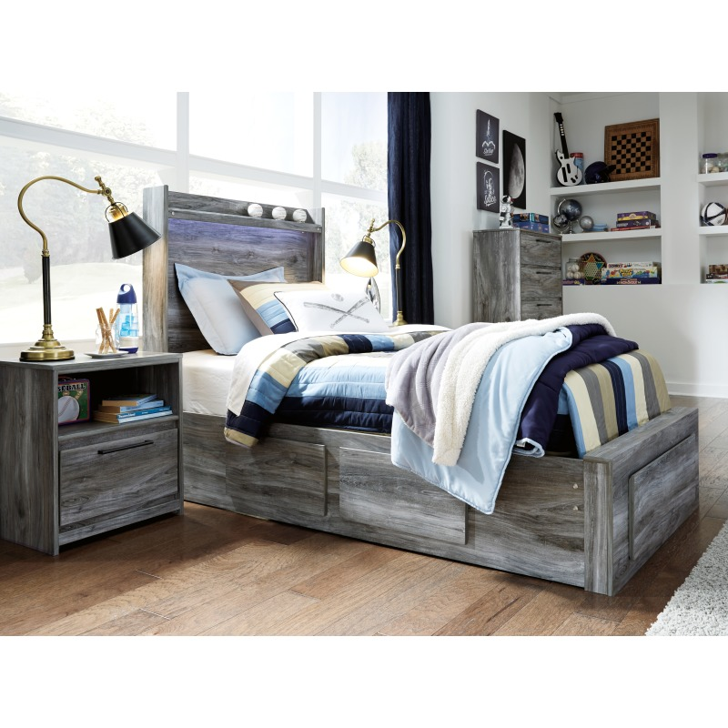 Baystorm Twin Panel Bed with Storage