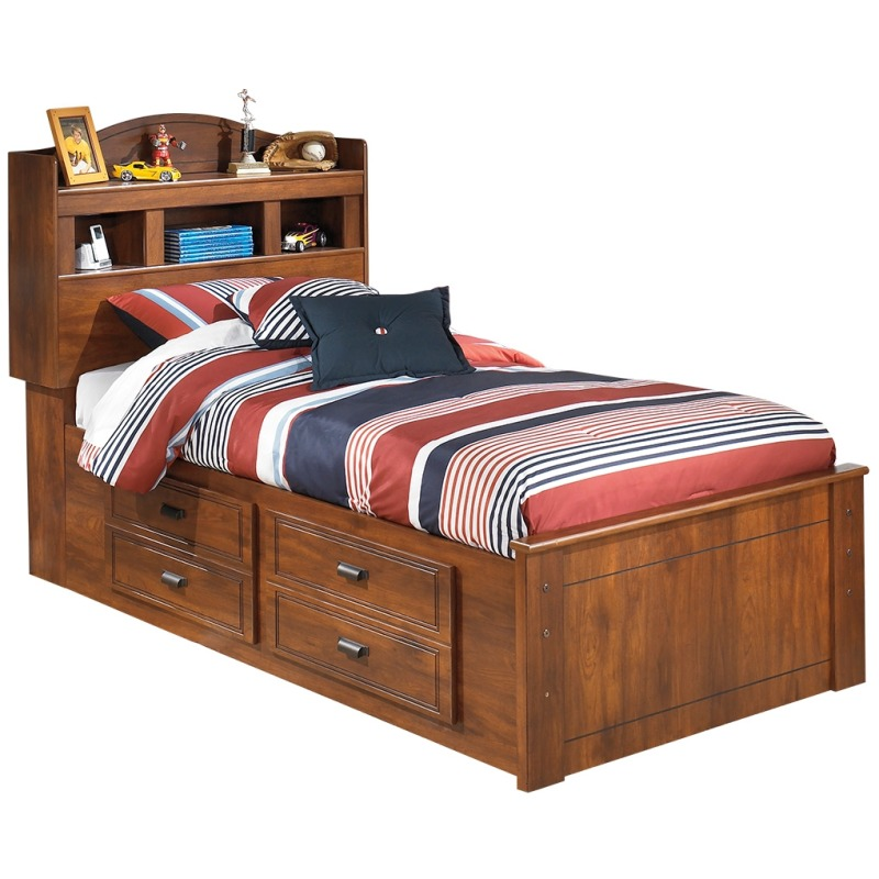 Barchan Twin Bookcase Bed with Storage