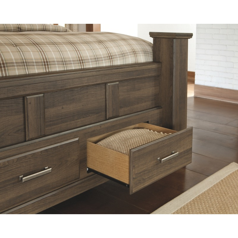 Juararo Queen Poster Bed with Storage