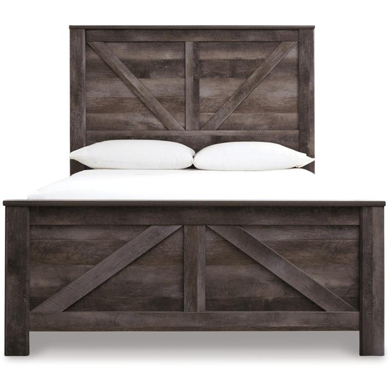Wynnlow Queen Crossbuck Panel Bed