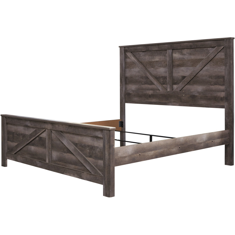 Wynnlow King Crossbuck Panel Bed