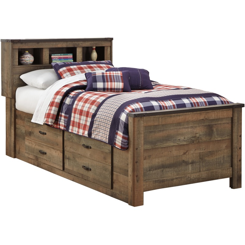 Trinell Twin Bookcase Bed with Drawer Storage