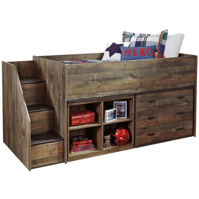 Trinell Twin Loft Bed with Storage