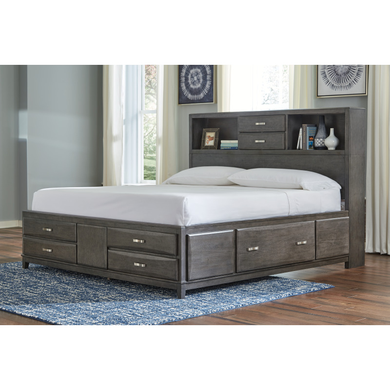 Caitbrook Queen Storage Bed with 8 Drawers