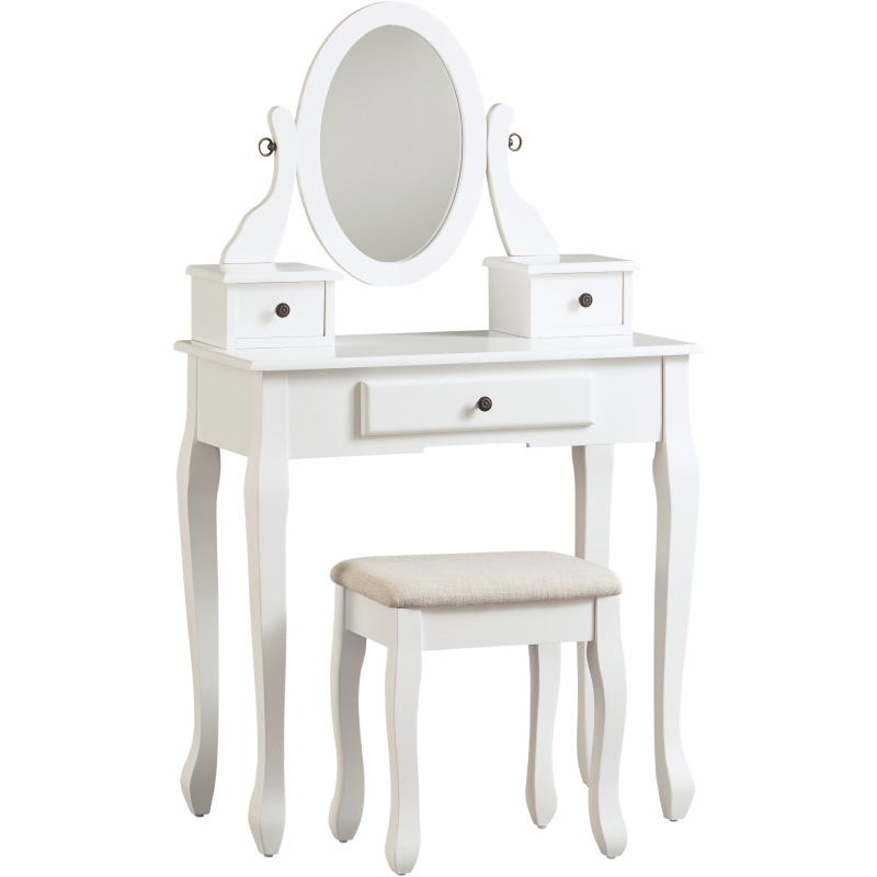 Kaslyn Vanity and Mirror with Stool