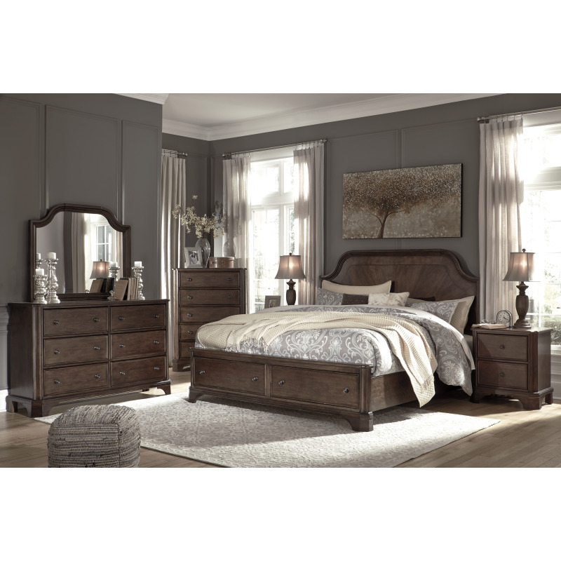 Adinton Queen Panel Bed with Storage