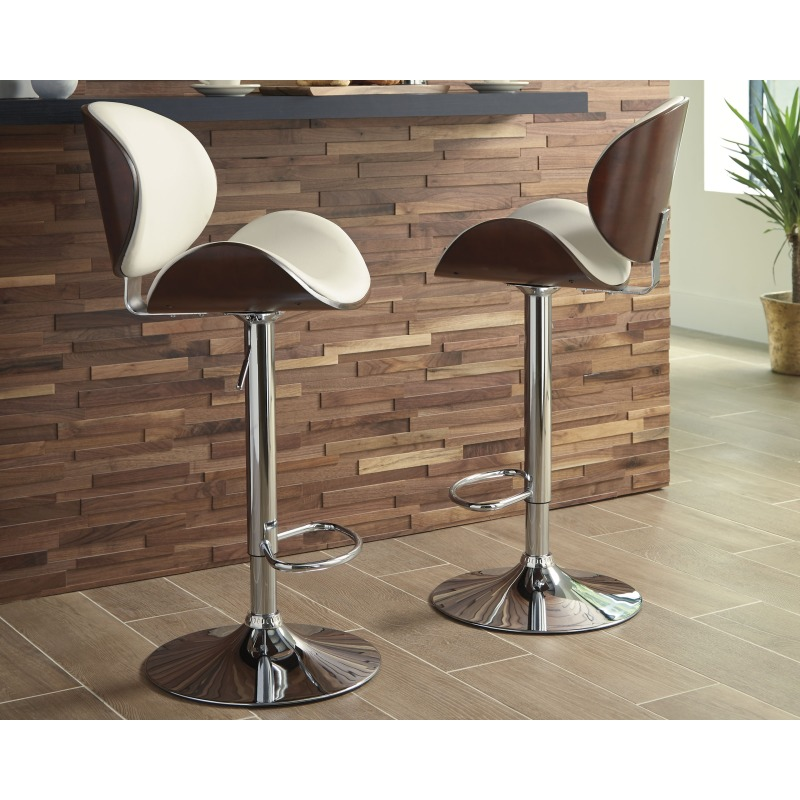 Strange Bellatier Adjustable Height Bar Stool By Signature Design By Creativecarmelina Interior Chair Design Creativecarmelinacom
