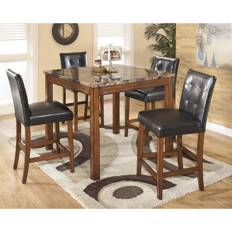 Theo Counter Height Dining Room Table and Bar Stools (Set of ...