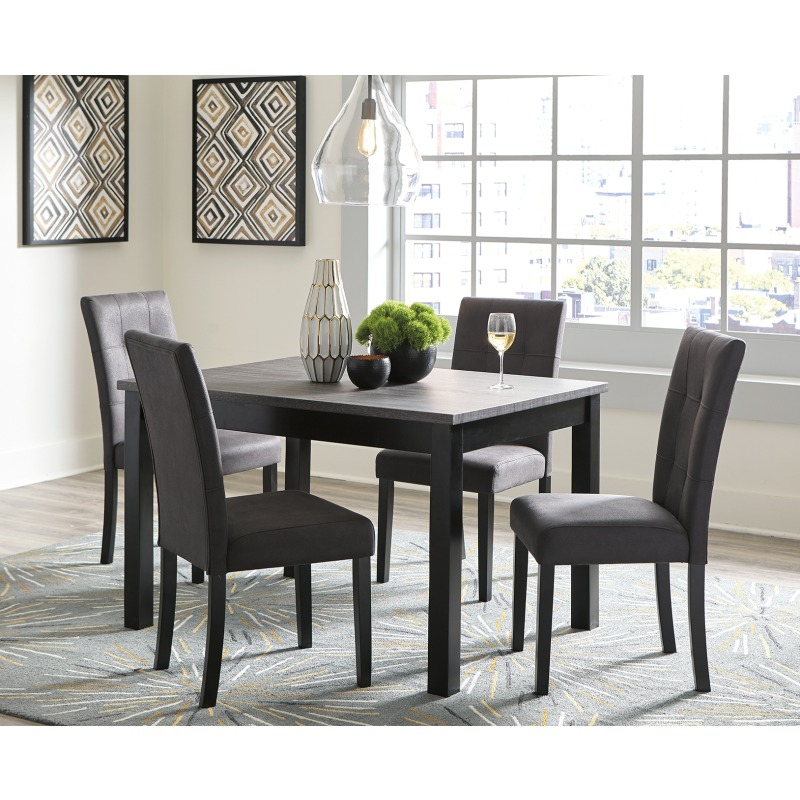 Garvine Dining Room Table and Chairs (Set of 5)
