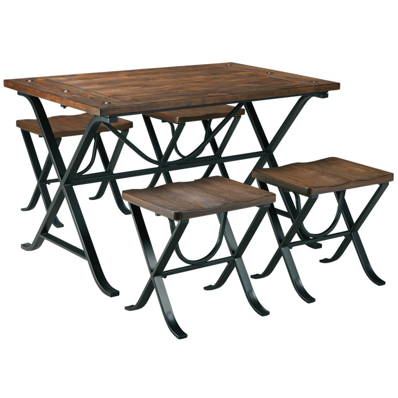 Freimore Dining Room Table and Stools (Set of 5)
