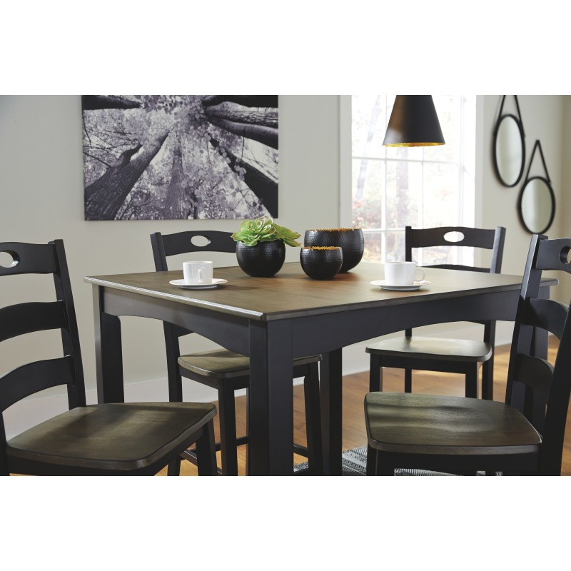 Pleasing Froshburg Counter Height Dining Room Table And Bar Stools Andrewgaddart Wooden Chair Designs For Living Room Andrewgaddartcom