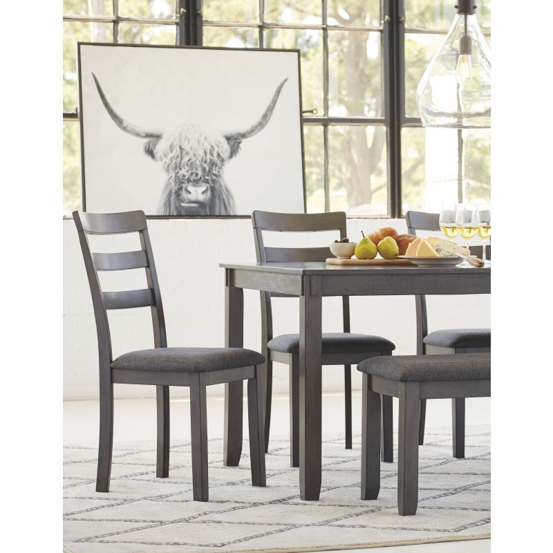 Bridson Dining Room Table and Chairs with Bench (Set of 6)