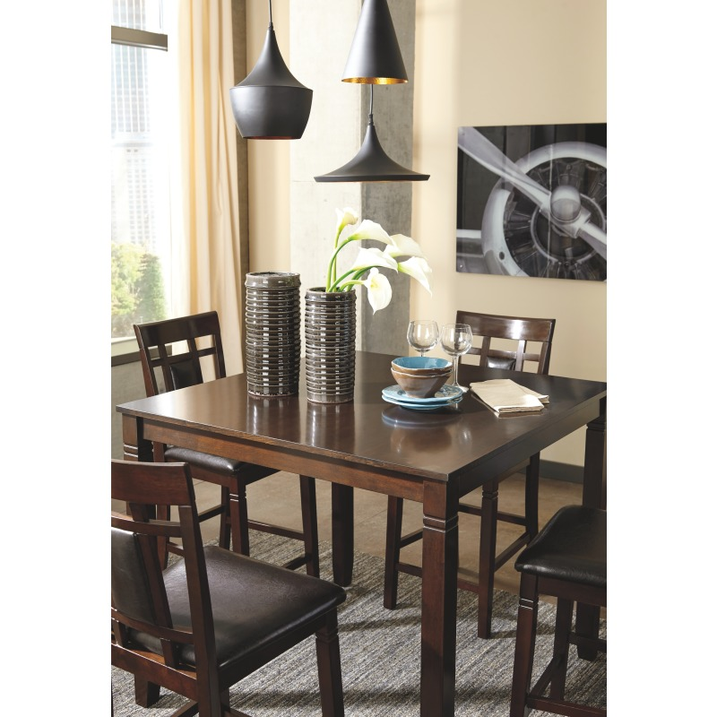 Coviar Counter Height Dining Room Table and Bar Stools (Set of 5)