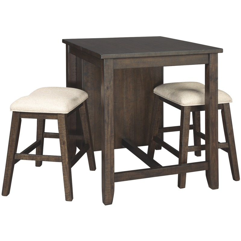 Rokane Counter Height Dining Room Table and Bar Stools (Set of 3)