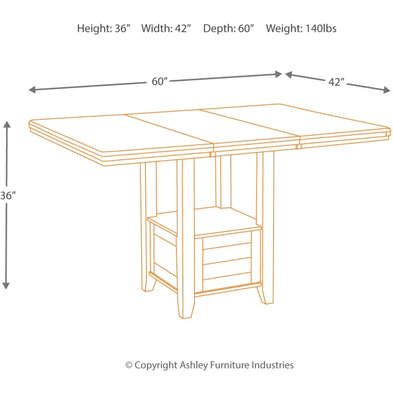 Haddigan Counter Height Dining Room Table