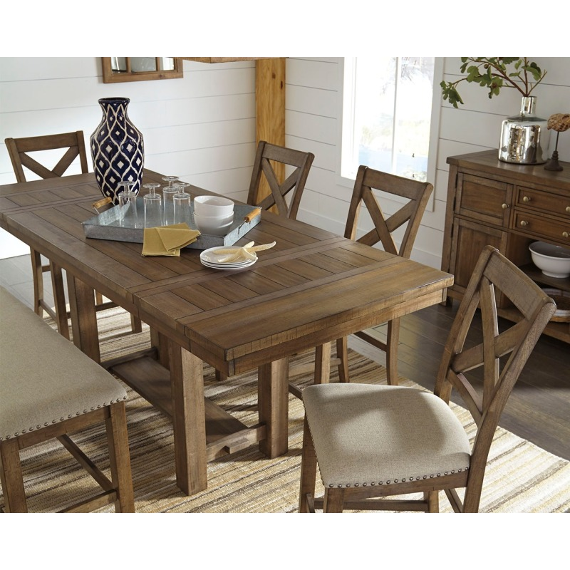 Wondrous Moriville Counter Height Dining Room Table By Signature Ncnpc Chair Design For Home Ncnpcorg