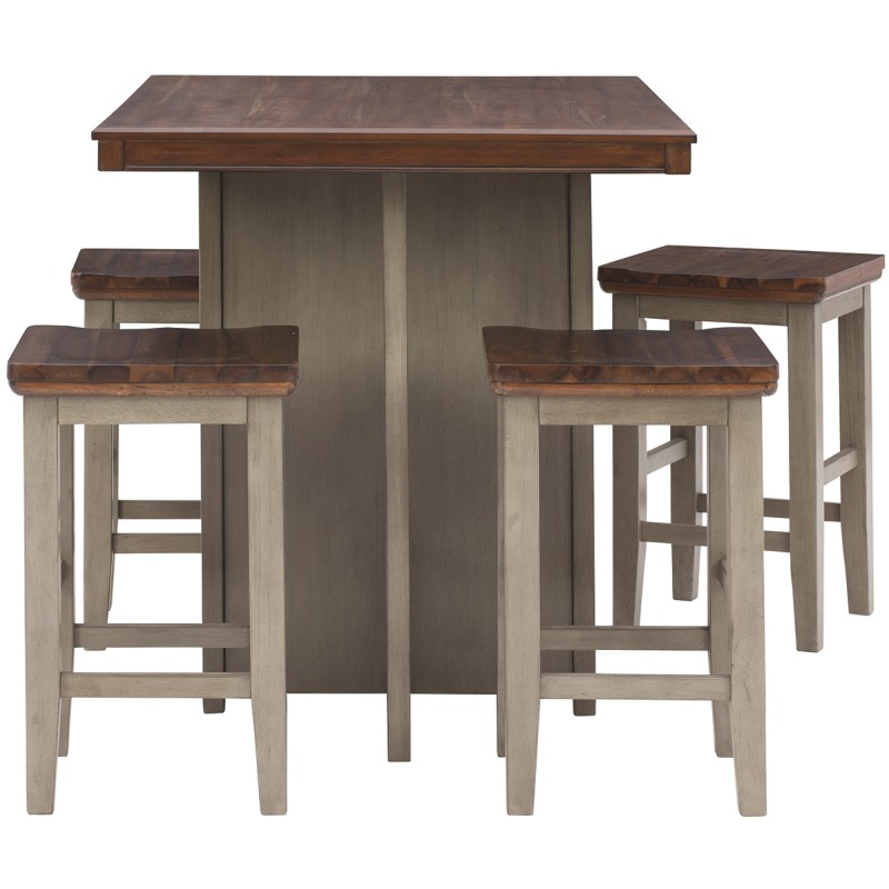 Lettner Counter Height Dining Room Table and Bar Stools (Set of 5)