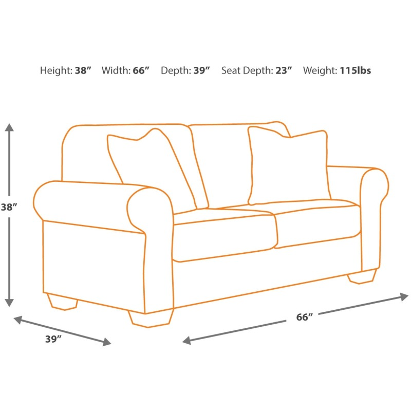 Tremendous Bristan Loveseat By Signature Design By Ashley 8220235 Unemploymentrelief Wooden Chair Designs For Living Room Unemploymentrelieforg