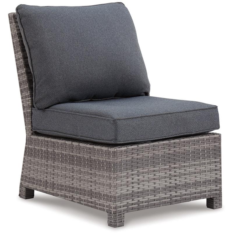 Salem Beach Armless Chair with Cushion