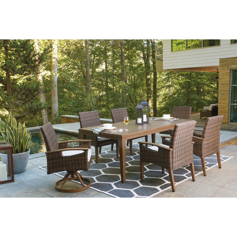 Paradise Trail Dining Table with Umbrella Option