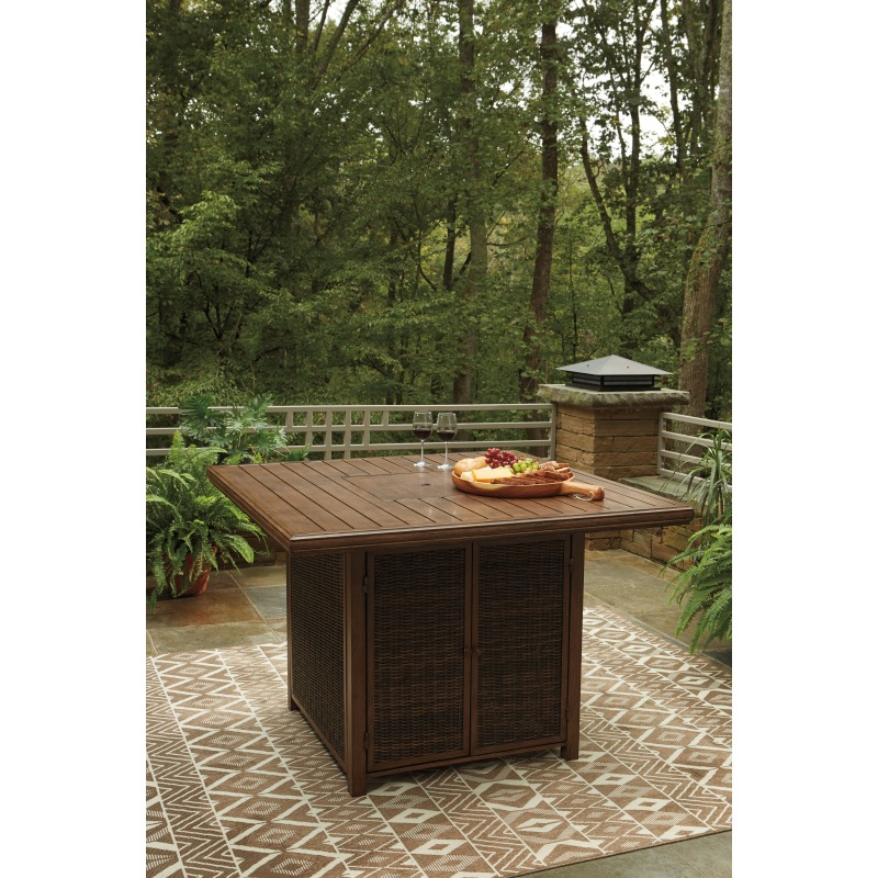Paradise Trail Bar Table with Fire Pit