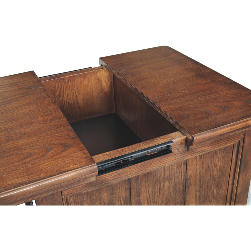 Woodboro Media End Table with Power Outlets