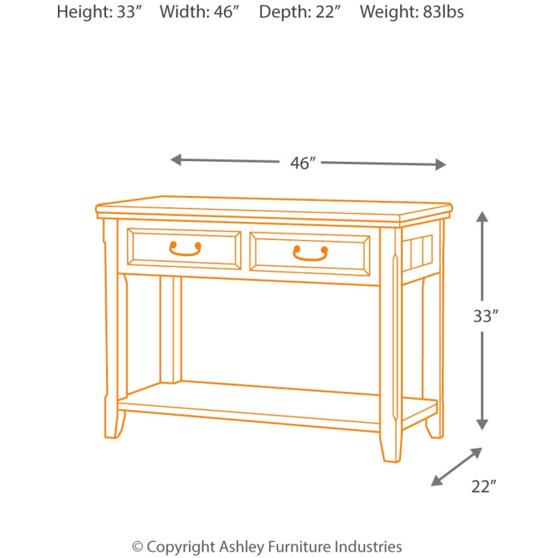 Woodboro Sofa/Console Table