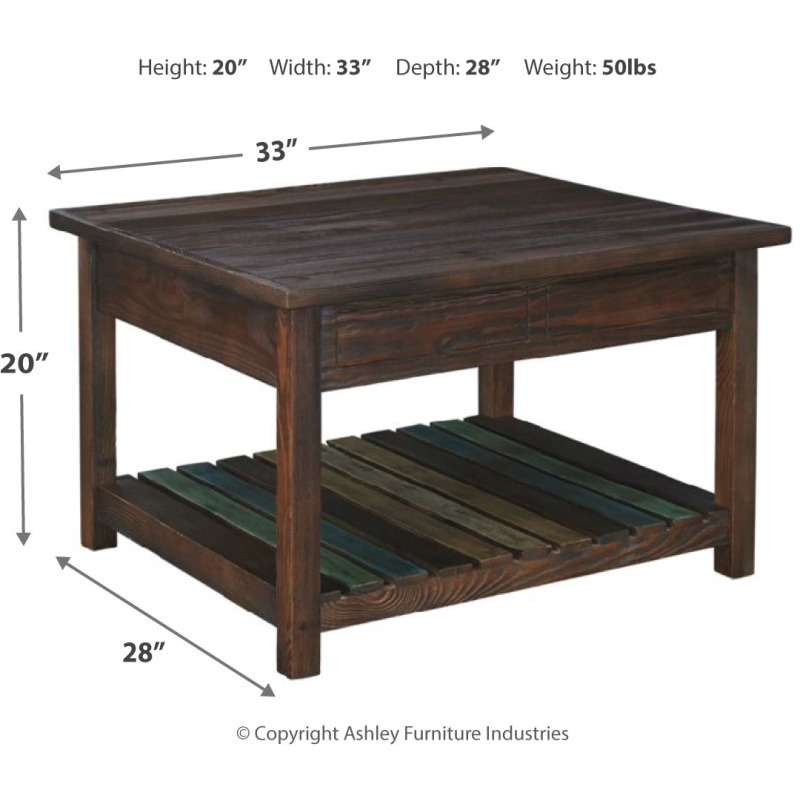 Mestler Coffee Table with Lift Top