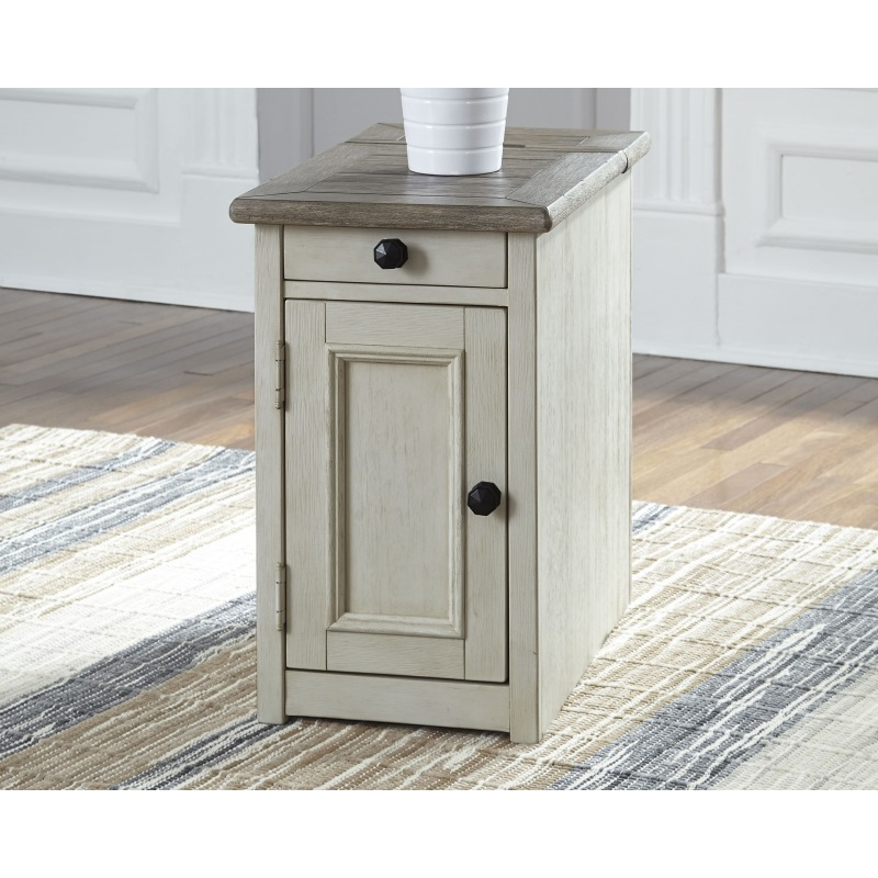 Bolanburg Chairside End Table With Usb Ports Outlets By